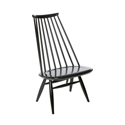 Artek, Mademoiselle Lounge Chair, Legs, seat and backrest: birch, black stain- Placewares