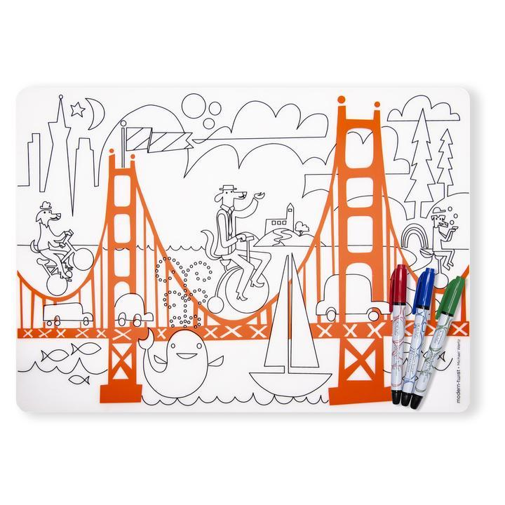 Modern-Twist, Mark-Mat + 3 Markers : Fun on Golden Gate, - Placewares