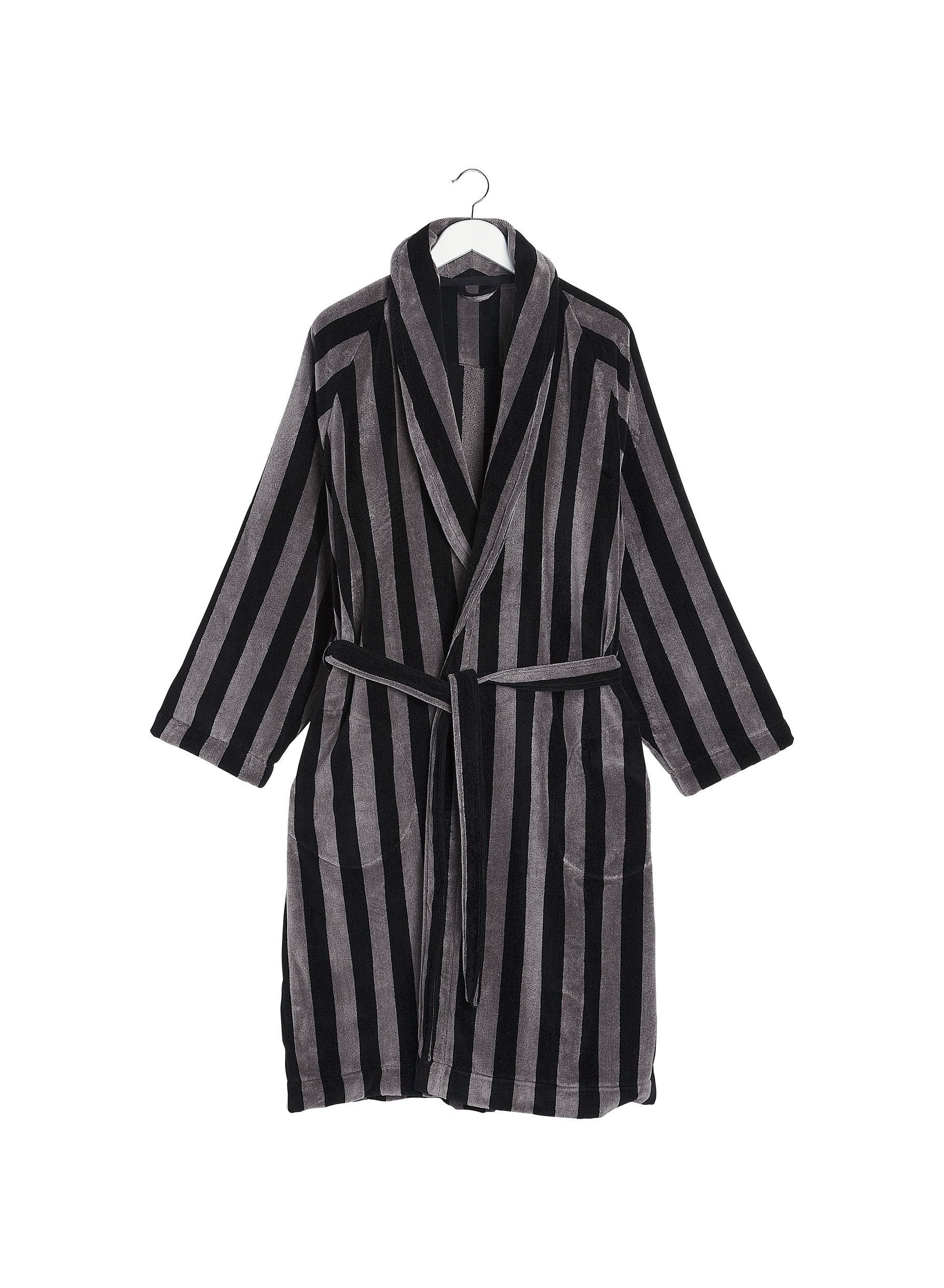 Marimekko, Nimikko Mikko Bathrobe, S/M / Grey/Black- Placewares