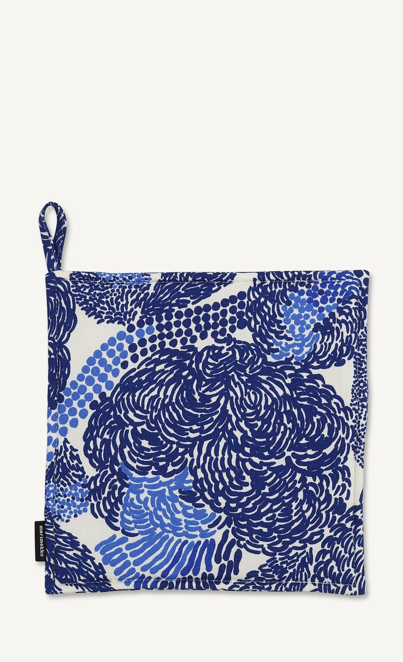 Marimekko, Mynsteri Pot Holder, White/Blue- Placewares
