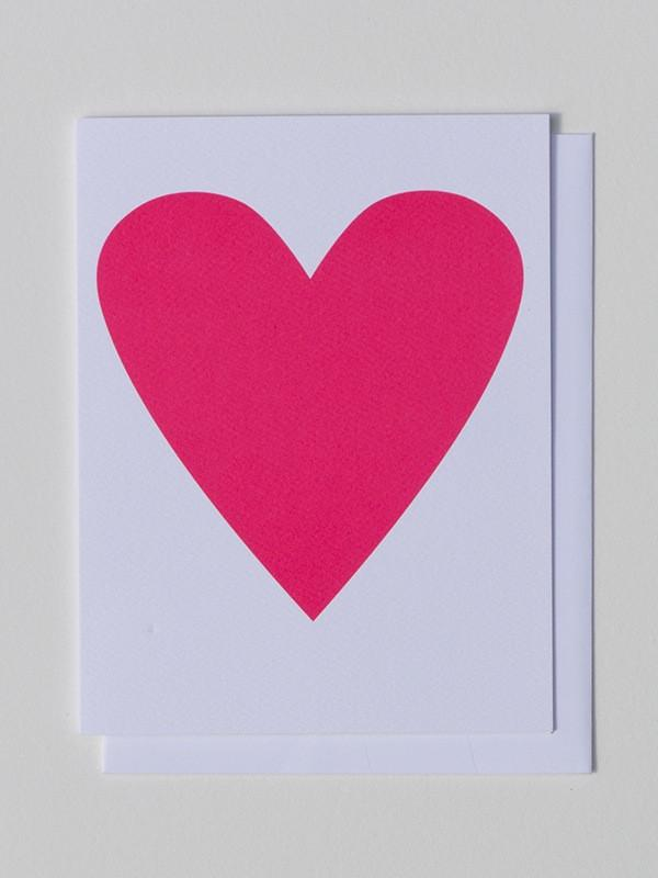 Banquet Workshop, Neon Pink Heart Notecard, - Placewares