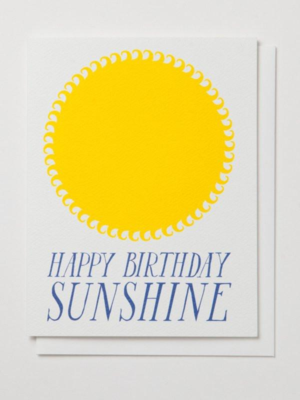 Banquet Workshop, Happy Birthday Sunshine Notecard, - Placewares