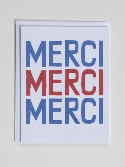 Banquet Workshop, Merci, Merci, Merci - Thank You Notecard, - Placewares