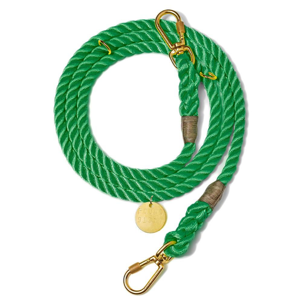 Found My Animal, Marine-Grade Dog Leash, adjustable - Miami Green, - Placewares