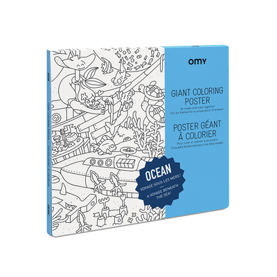 OMY, Ocean Coloring Poster, - Placewares