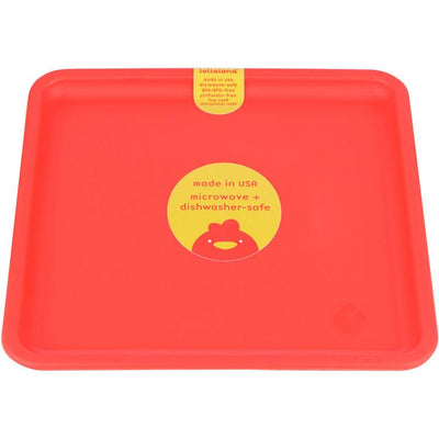 Lollaland, Mealtime Plates - multiple colors, Bold Red- Placewares