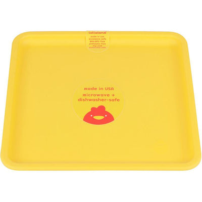 Lollaland, Mealtime Plates - multiple colors, Chirpy Yellow- Placewares