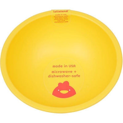 Lollaland, Mealtime Bowls - multiple colors, Chirpy Yellow- Placewares