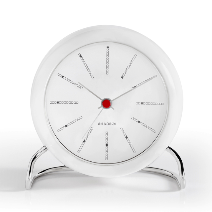 Arne Jacobsen, Arne Jacobsen Station Banker's Alarm Clock, assorted colors, White- Placewares