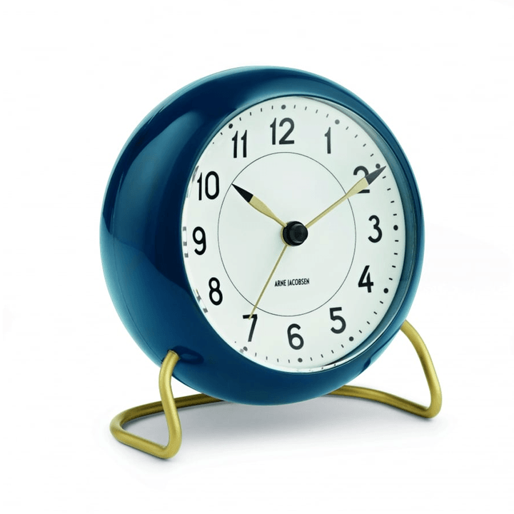 Arne Jacobsen, Arne Jacobsen Station Alarm Clock, assorted colors, Petrol Blue- Placewares