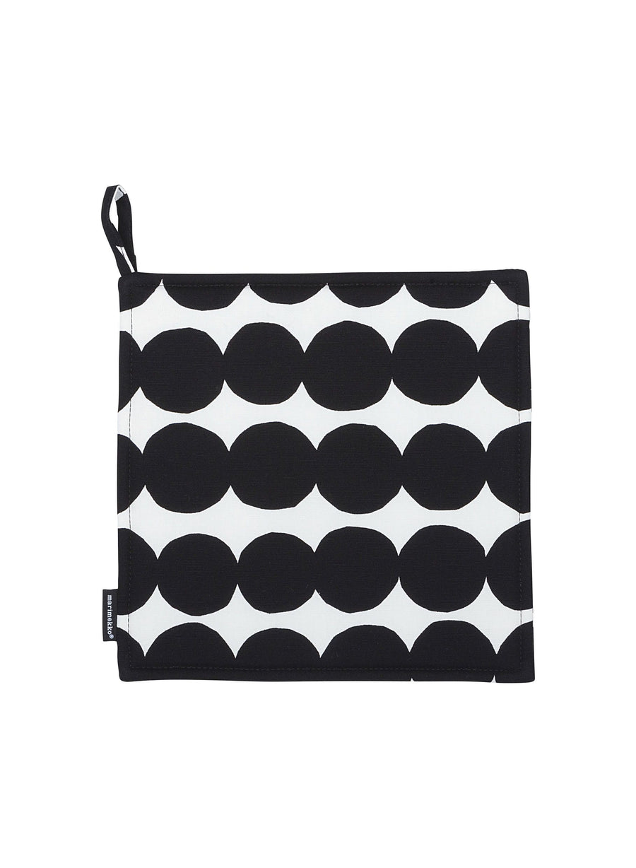 Marimekko, Räsymatto Pot Holder, White/Black- Placewares