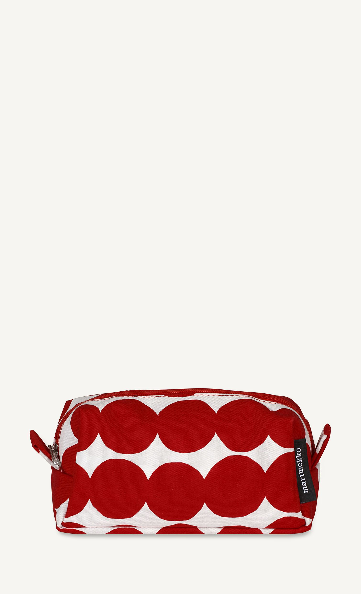 Marimekko, Taimi Räsymatto Toiletry Bag, White/Red- Placewares