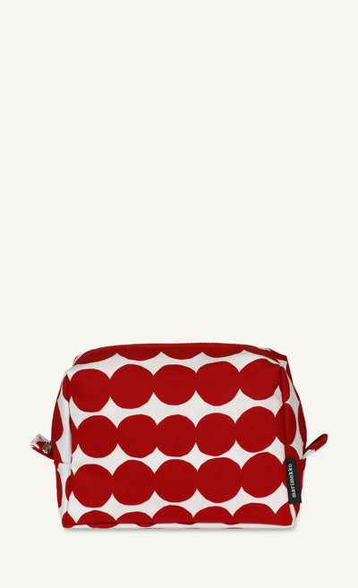 Marimekko, Verso Räsymatto Toiletry Bag, Red/White- Placewares