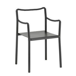 Artek, Rope Chair, Black / Polyester Rope -Frame: steel, black powder coating Seat: ash veneer, black lacquer Back and armrests: polyester rope, black- Placewares