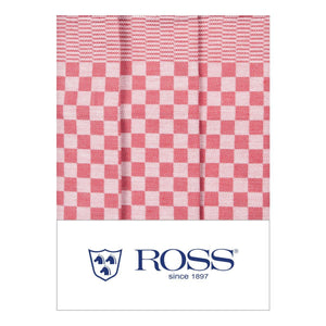 Ross Textilwerke, German Cotton Dish Towel, super absorbent, Red- Placewares