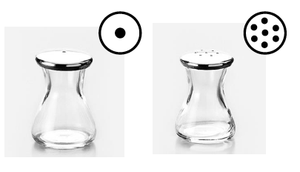 Kimura Glass, Japanese Glass Salt and Pepper Shakers, - Placewares