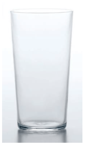Hard Strong, 100% Tempered Drinking Glass, 12.5 oz, - Placewares