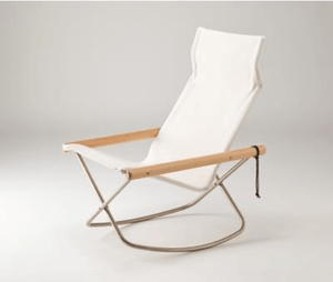 Nychair X, NychairX Canvas Rocking Chair, White- Placewares