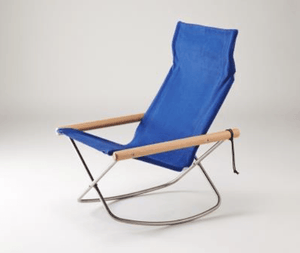 Nychair X, NychairX Canvas Rocking Chair, Blue- Placewares