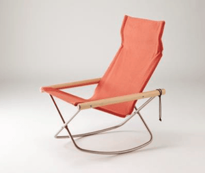 Nychair X, NychairX Canvas Rocking Chair, Vermillion- Placewares