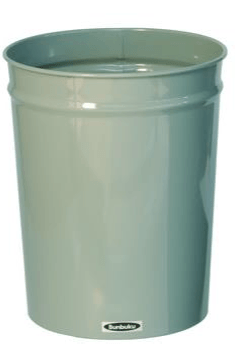 Bunbuku, Painted Steel Tapered Wastebasket, 1.9 gal - Ivory, Ivory- Placewares
