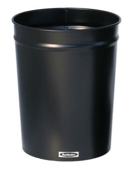 Bunbuku, Painted Steel Tapered Wastebasket, 1.9 gal - Black, Black- Placewares