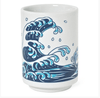 Miya, Blue Wave Fish Teacup, - Placewares