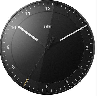 Braun, Braun Wall Clock - Large, Black- Placewares