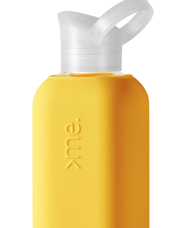 Squireme, Squireme - Glass Bottle with Silicone Sleeve, Yellow- Placewares