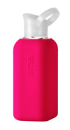 Squireme, Squireme - Glass Bottle with Silicone Sleeve, Pink- Placewares