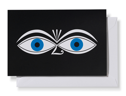 "Vitra, Alexander Girard ""Eyes, Blue"" Greeting Card, - Placewares"