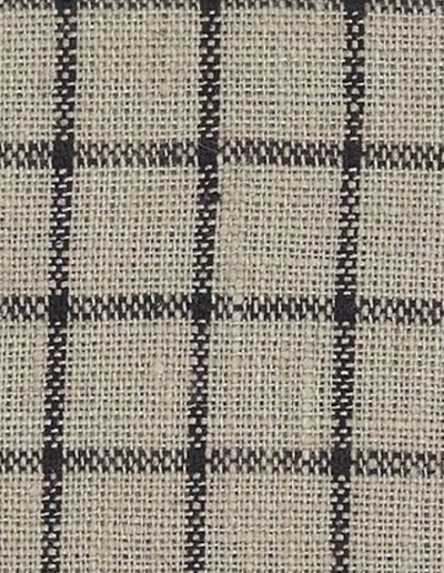 Fog Linen, Japanese Linen Kitchen Towel, ivory & navy grid, - Placewares