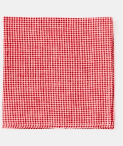 Fog Linen, Japanese Linen Table Napkin, red and white check, - Placewares