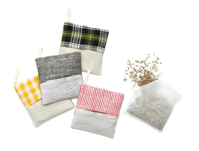Fog Linen, Lavender Linen Sachet, Assorted Colors, - Placewares