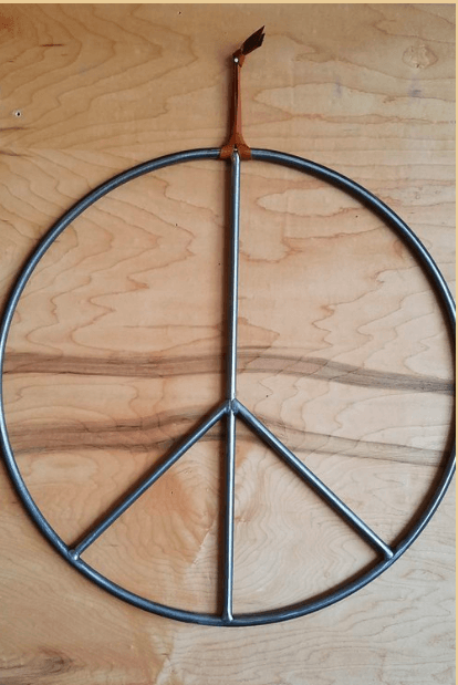 ALL ROADS, All Roads Peace Sign - Raw, 17 in., - Placewares