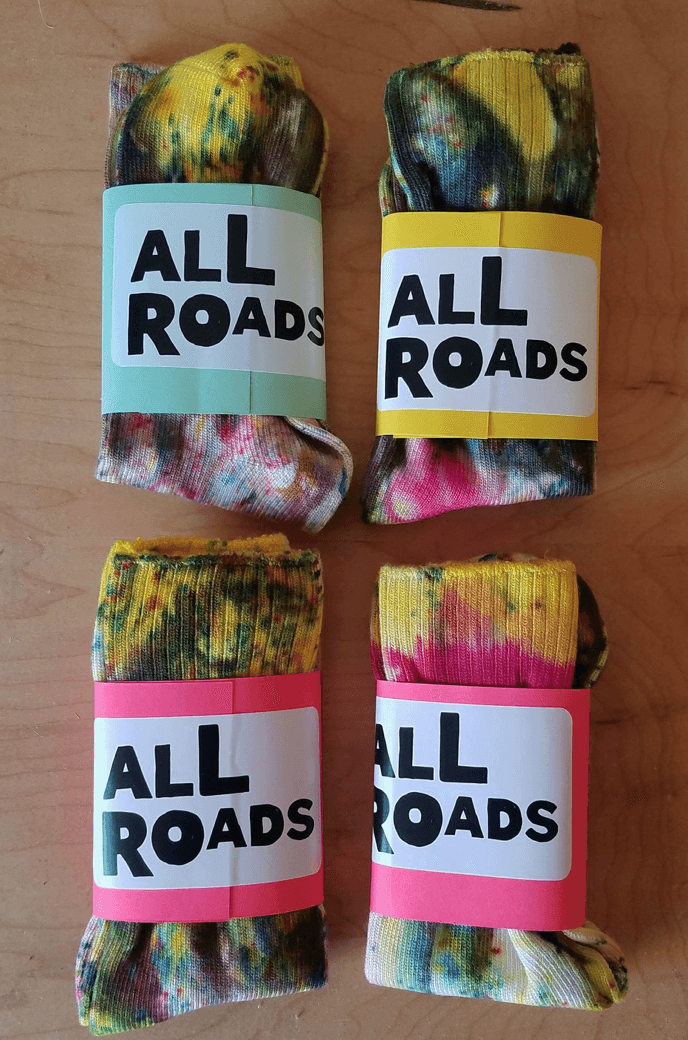 ALL ROADS, All Roads Hot and Cold Funfetti Socks, - Placewares
