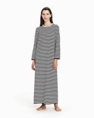 Marimekko, Katju Nightdress, XXS / Black / White- Placewares