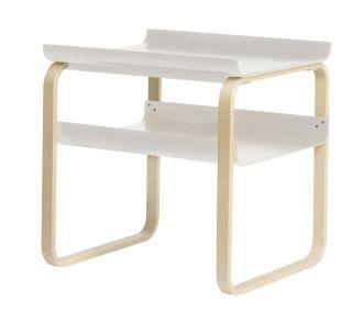 Artek, Side Table 915 Alvar Aalto, Frame: birch, clear lacquer Shelves: birch, white lacquer- Placewares