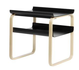 Artek, Side Table 915 Alvar Aalto, Frame: birch, clear lacquer Shelves: birch, black lacquer- Placewares