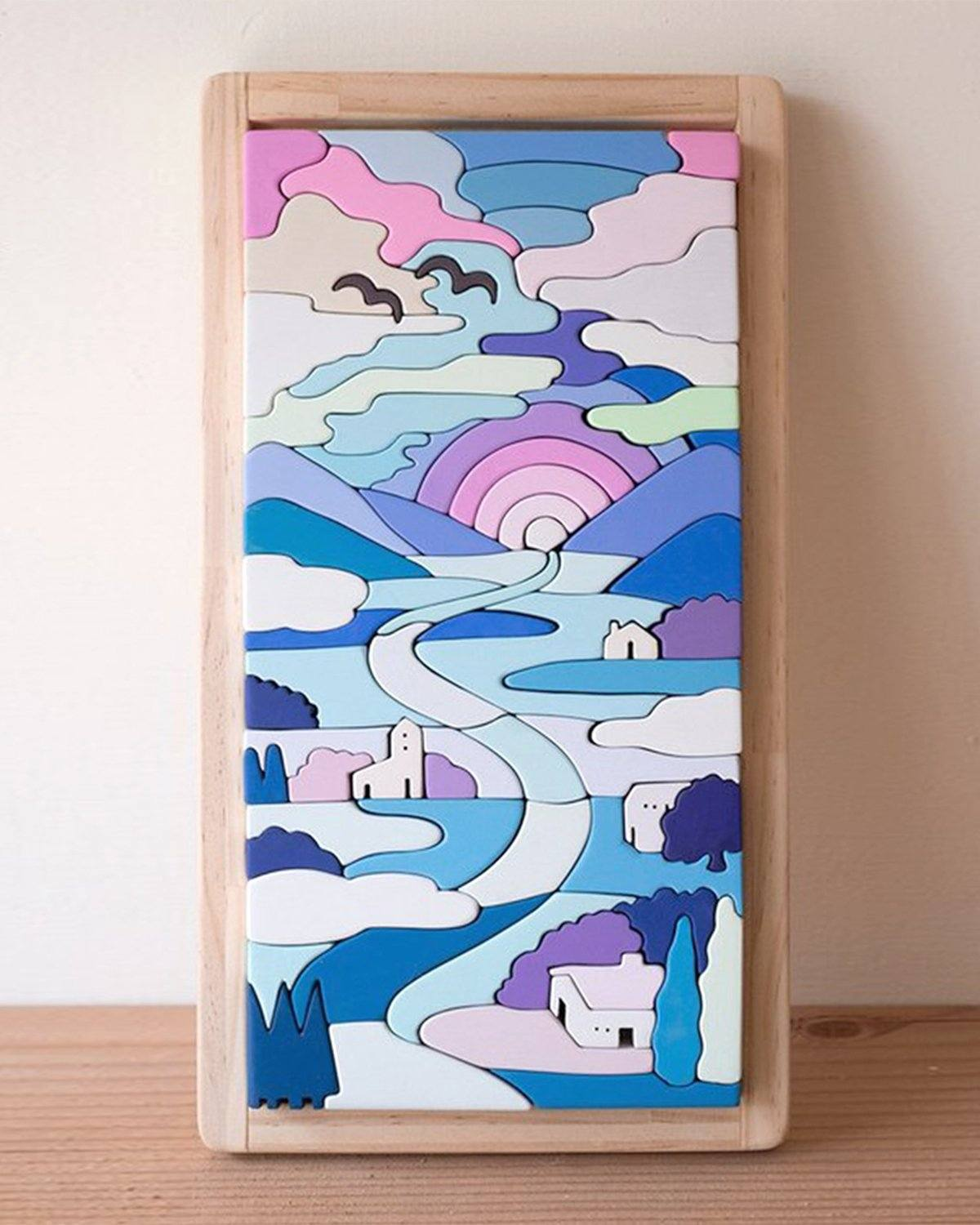 Eguchi, Wooden Sunset Puzzle, - Placewares