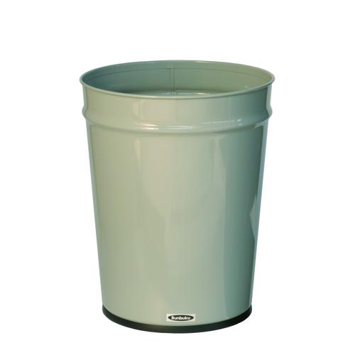 Bunbuku, Painted Steel Tapered Wastebasket, 3 gal - Gray, Gray- Placewares