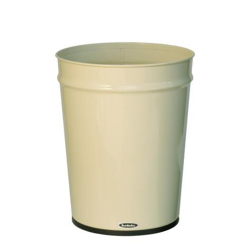 Bunbuku, Painted Steel Tapered Wastebasket, 3 gal - Ivory, Ivory- Placewares