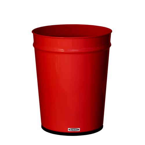 Bunbuku, Painted Steel Tapered Wastebasket, 3 gal - Red, Red- Placewares