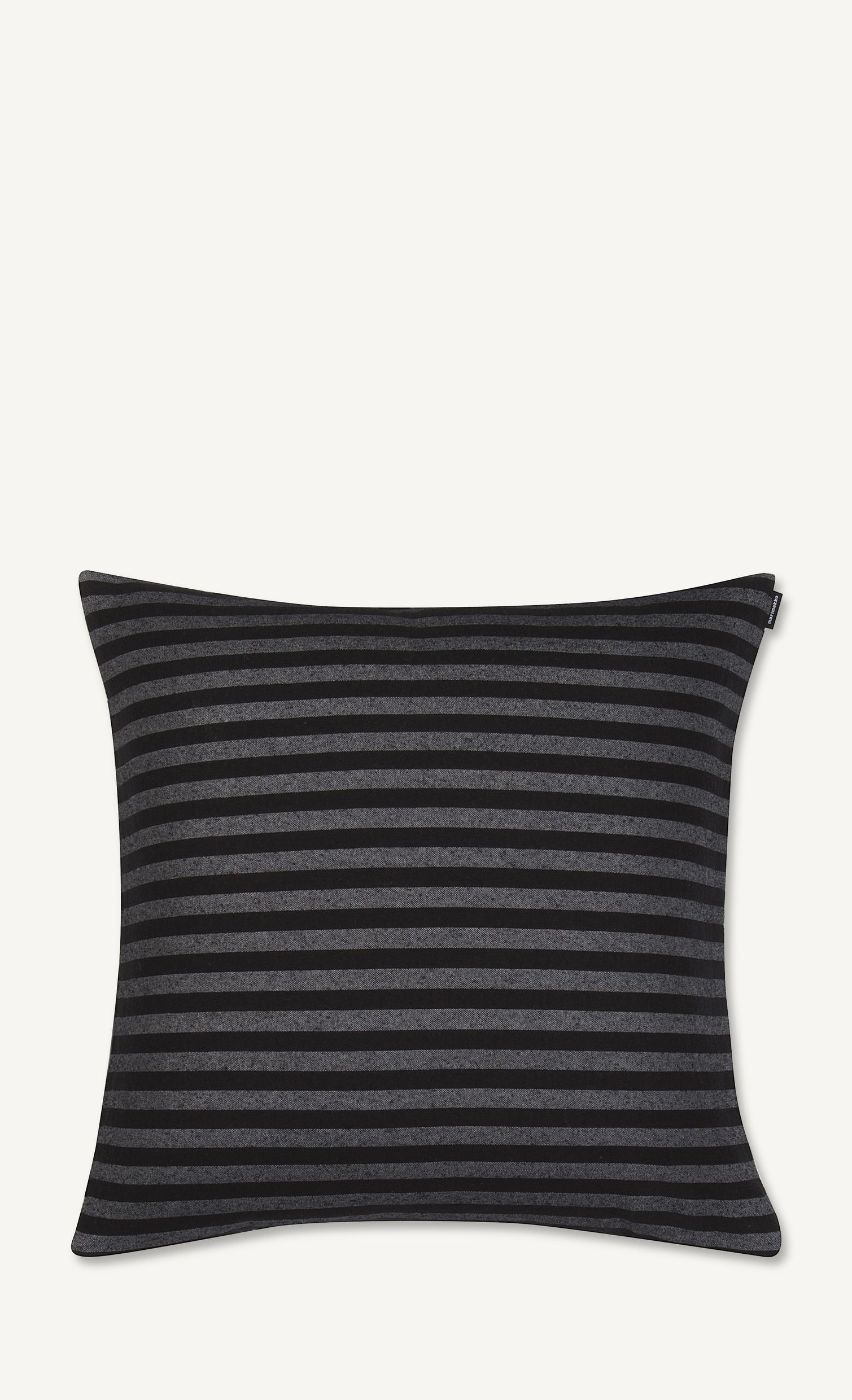 Marimekko, Tasaraita Cushion Cover, Black/Grey- Placewares