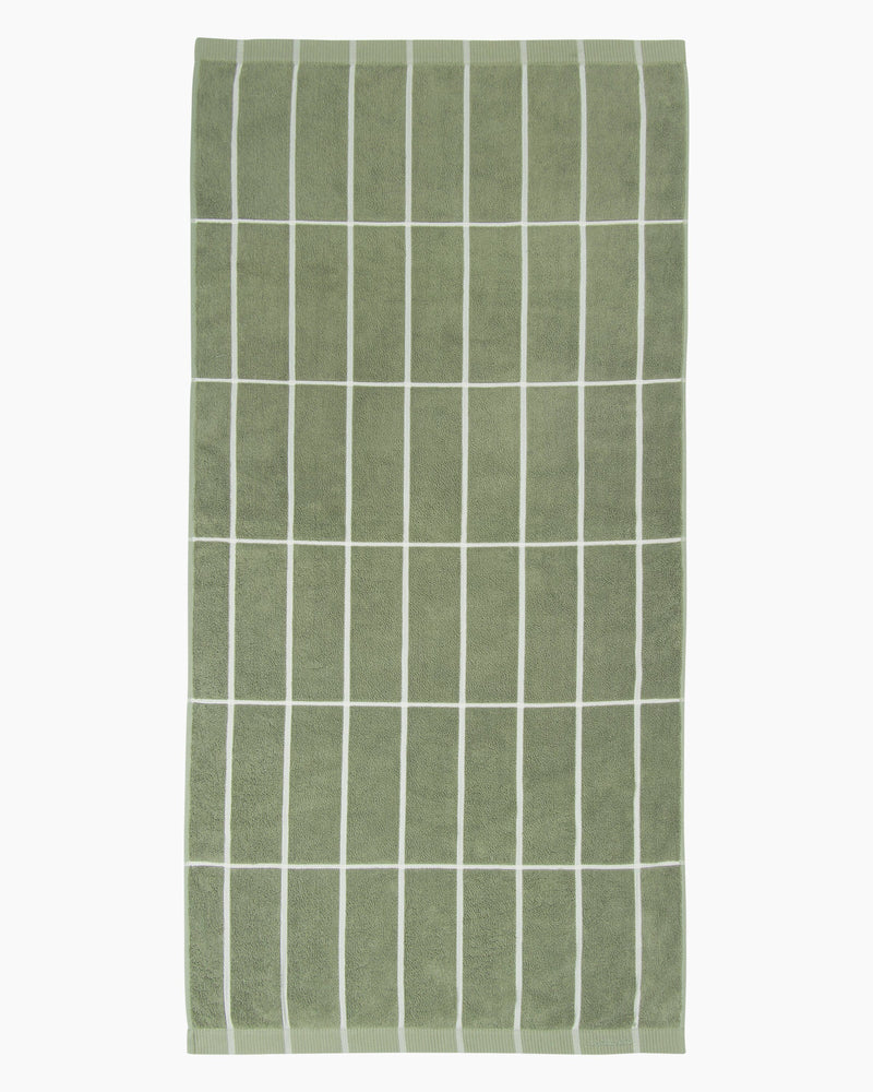 Marimekko, Tiiliskivi Bath Towel, Green/White- Placewares