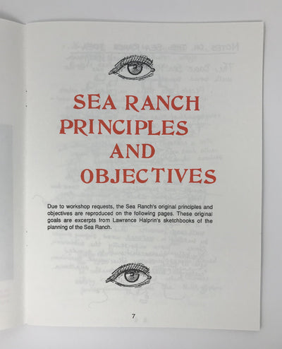 The Sea Ranch Association, Sea Ranch, Taking Part Workshop, - Placewares