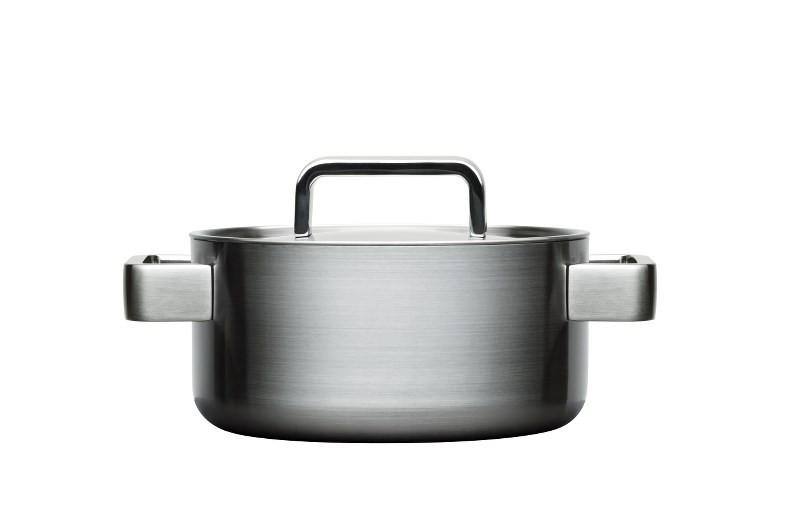 Iittala, Tools Casserole with Lid, 2 Quarts, Brushed Stainless Steel- Placewares
