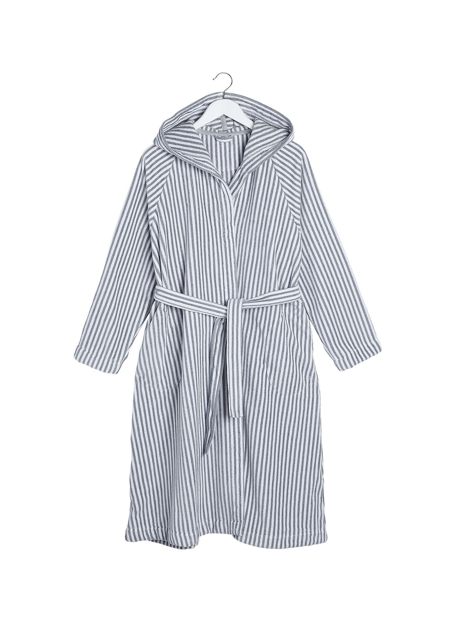Marimekko, Siro Mari Hooded Bath Robe, XS/S / Grey/White- Placewares