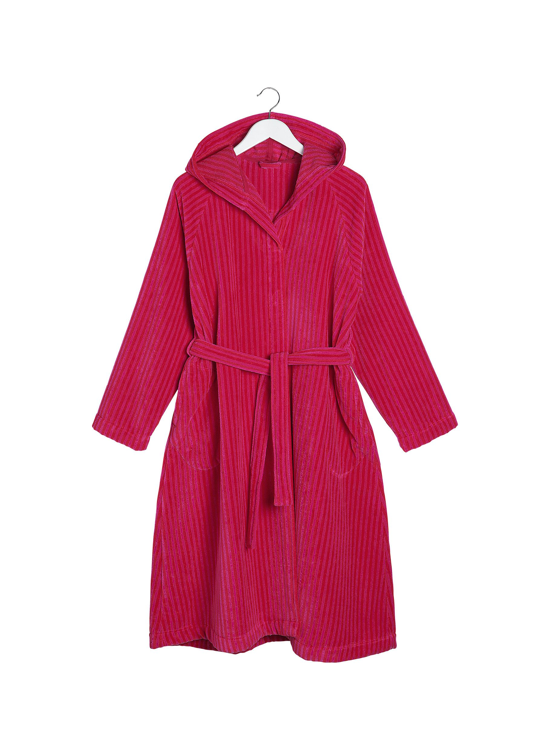 Marimekko, Siro Mari Hooded Bath Robe, XS/S / Red/Pink- Placewares