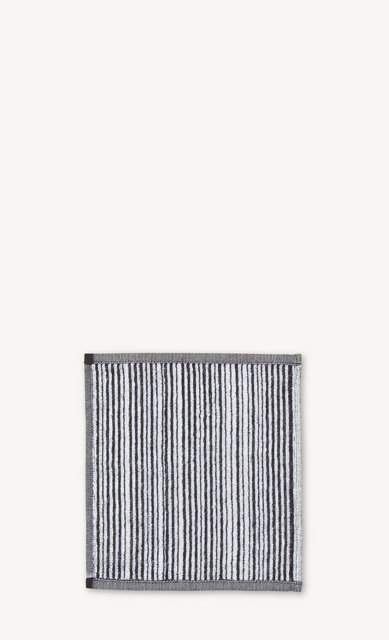 Marimekko, Varvunraita Mini Towel/Washcloth, White/Black- Placewares